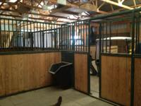 12x12 Horse stall. Steel construction. One side and one