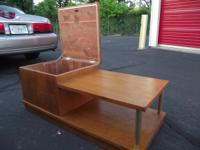I have a vintage, clean, solid wood, oak finish,