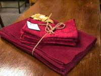 linen Napkins Quilts -- sold seperate  Get there 1st
