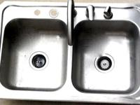 Hello there, I am selling this stainless steel sink for