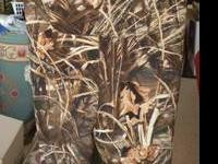 Hodgman XL Camo waders-- very high quality and warm.