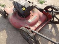 High wheel mower Runs $30 Call or text  // //]]>