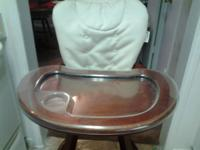 Looking to sale baby or child wooden highchair, nice