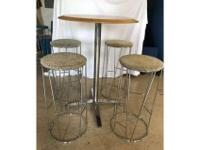 *Bernhardt Design Forest stool with upholstered