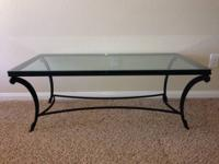 High quality Rectangular Coffee Table with Clear