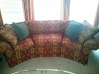 Gorgeous Highland House Sofa with Red, Yellow, and