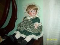 This is a Hilda Doll, JDF, Full Bodied porcelain, 14""