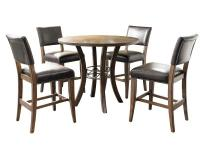 The Cameron dining set beautifully combines wood and