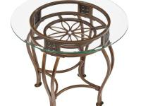 The Scottsdale end table features graceful flowing