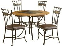 The Lakeview dining collection combines rustic textures