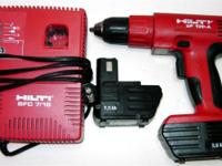 Hilti 9.6V cordless drill (3/8 chuck) with 2 battery