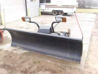 Selling a complete Hiniker snow plow set up. This unit