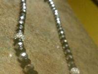 hip hop diamond bead necklace worn once, in perfect