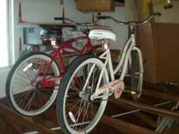 "26"" Ocean Pacific Retro Bicycles, one ""his"", one"