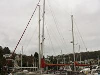 """Cape Corsair"" is a wooden cutter rigged ketch full of"