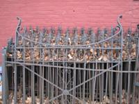 This is antique functioned iron fencing from Saline