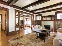 This two-story Craftsman-style bungalow is a