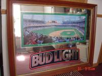 "36""w x 28""h ""Bud Light"" Tiger Stadium Mirror is in"