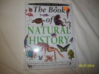 THE BOOK OF NATURAL HISTORY-HARDBACKED-(160p): $5