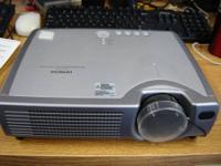 Hitachi ED-S3170A liquid crystal projector is used to