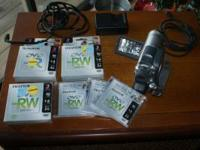 Im selling this camera and 9new dvd rw disc annd 3 dvd