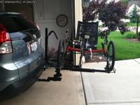 We have a Hitch Rider Trike/Bike Rack.  Been used