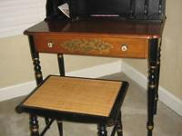 Hitchcock writing desk and stool, great condition, one