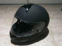 HJC CL-16 Matte Black Full Face Helmet Large size Great
