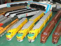 Here are a few HO engines and a Passenger car set. I