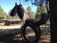 Hand created hobby horse tree swing. Hang from a tree