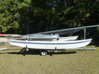 1982 Hobie 16. Hulls are water tight, tramp in