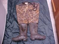 A pair of Hodgman camo waders. Size 5. I wear size 6