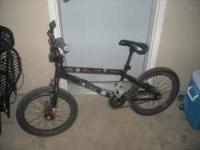 "Hoffman Alias BMX Bike 20.5"" top tube 3-piece cranks"