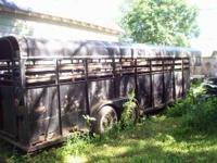 5th wheel hog trailer Hog feeders Bulk bins Hog
