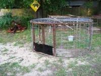 8ft across circle hog trap call  Location: Atlana
