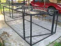 "4x8x35"" high made of 1"" tubing hog panel swinging"