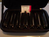 "Like brand name new. Hohner ""Bluesband"" harmonica set A"
