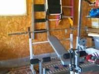Hoist free weight universal bench system with pulley
