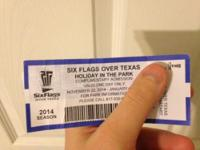 I purchased this ticket for Six Flags Holiday in the