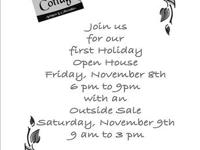 Our first holiday open house will be on Friday,