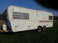 1972 Holiday Rambler Camper, sleep 6. stove,