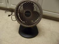 "BRAND NEW CONDITION, HOLMES 10"" BLIZZARD TABLE FAN, HAS"