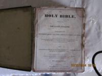 This antique bible released in 1875 is a huge bound