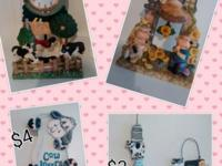 Lots n lots of cows!!! Lamps, figurines, cookie jars,