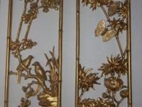 Set of 2 Gold Plaques - could easily be painted if