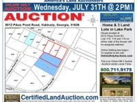 Home and land lots auction for Residential real estate