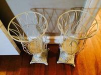 "Make me an offer!  White candle holders $40.00. ""Happy"