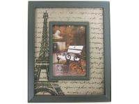These classic Burlap Print Frames offer a worldly,