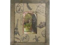 This beautiful Marseilles Frame from the Burlap Prints