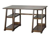 The Kelman Walnut Writing Desk features 4-fixed shelves